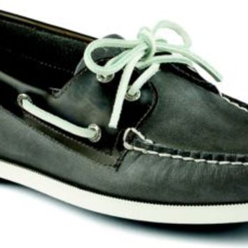 Sperry Top-Sider Authentic Original Seaglass 2-Eye Boat Shoe Gray/Black, Size 8.5M  Men's Shoes
