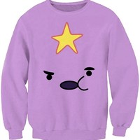 Star Pattern Purple Sweatshirt - OASAP.com