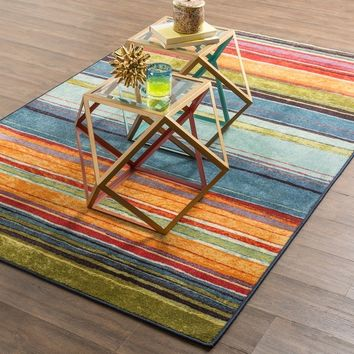 """Mohawk Home New Wave Rainbow Area Rug (7'6"""" x 10') 