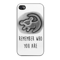 who you are the lion iPhone 4 4s 5 5s 5c 6 6s plus cases