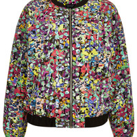 Pop Flower Print Bomber - Festival - Clothing - Topshop USA