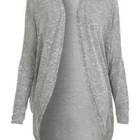 Grey Textured Cocoon Cardigan - Miss Selfridge US