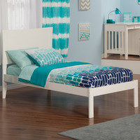 Metro Twin Bed Open Foot Rail White Finish