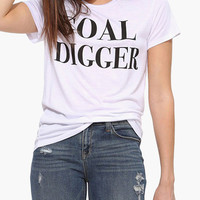 White Gold Digger Graphic Tee
