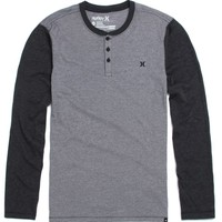 Hurley Dri-Fit Lateral Henley T-Shirt - Mens Tee