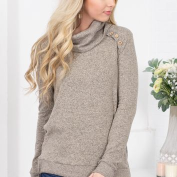 Classic Grey Cowl Sweater