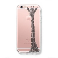 Giraffe iPhone 6 Case, iPhone 6s Plus Case, Galaxy S6 Edge Clear Hard Case C038