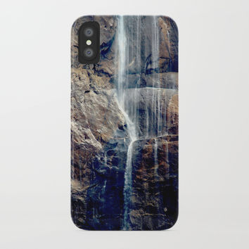 Waterfall at National Park iPhone Case by Knm Designs