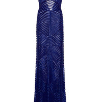 Open-Back Beaded Tulle Gown | Moda Operandi