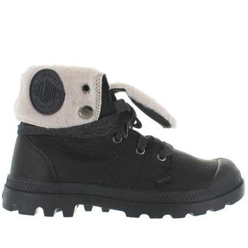 ESBONIG Palladium Pallabrouse Baggy - Watertproof Black Leather Fur-Lined Boot