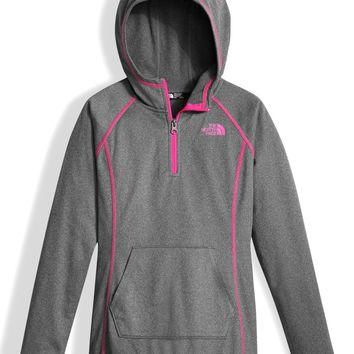 The North Face Tech Glacier Quarter Zip Fleece Hoodie (Big Girls) | Nordstrom