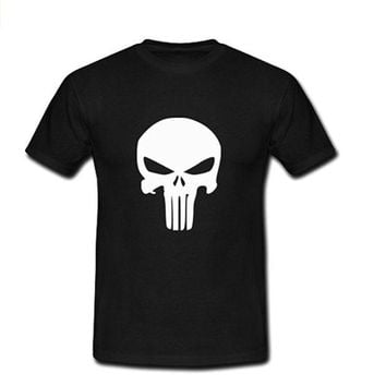 LOMFN Custom Punisher Fashion Cotton Short Sleeve Men's Big Tall T shirt