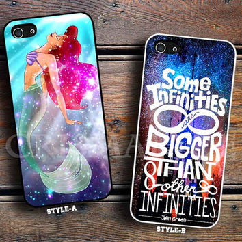 The Little mermaid Galaxy Nebula & john green quotes the fault in our stars