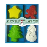4 Silicone Holiday Mini Cake Molds at Sassafras Store