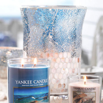 Shimmering Sea Hurricane : Jar Candle Holder : Yankee Candle