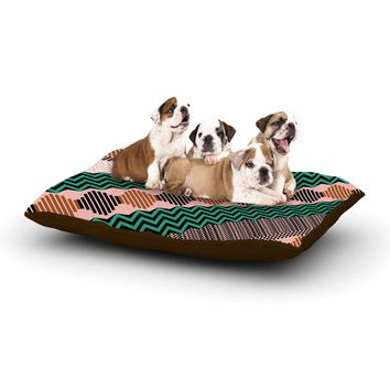 """Akwaflorell """"Knitted 2"""" Green Coral Pattern Dog Bed"""