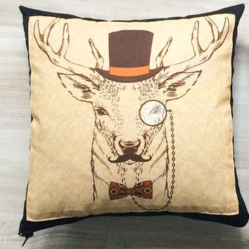 Decorative cushions, sofa pillows, deer pillows, deer pillow, modern pillows, designer pillows, modern throw pillows, deer throw pillows