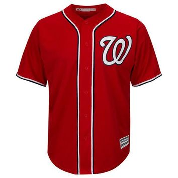Washington Nationals Cool Base MLB Custom Scarlet Jersey