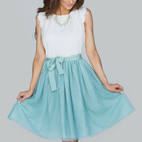 Harper Mint Tulle Skirt