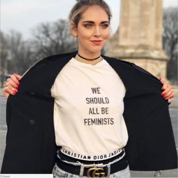 'WE SHOULD ALL BE FEMINISTS'White T-shirts Fashion