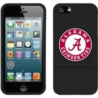 Coveroo iPhone 5/5S Black Slider Case with Alabama Crimson Tide Design