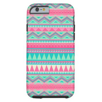 Colorful Aztec Chevron Zig Zag Stripe Pattern Tough iPhone 6 Case