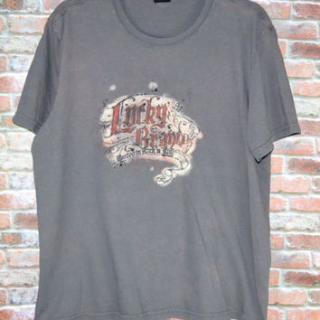 Lucky Brand XL T-Shirt Vintage Fit Rooted in Rock and Roll Tee USA