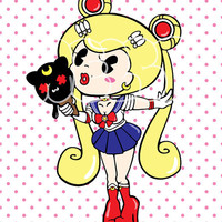 Hello Cavities Sailor Moon inspired 8.5x11 Graphic Print