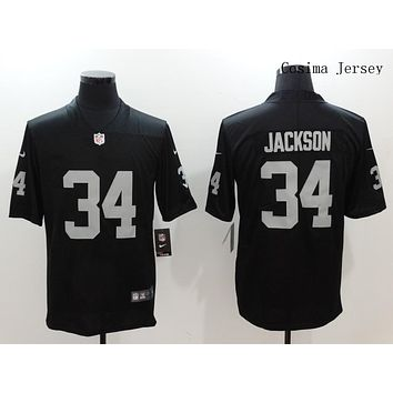 Danny Online Nike NFL Jersey Men's Vapor Untouchable Color Rush Los Angeles Raiders #34 Bo Jackson Football Jerseys