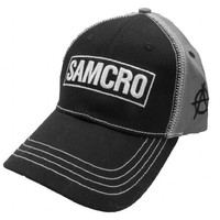 Sons of Anarchy S.O.A. Samcro Reaper Crew Logo Black & Grey Hat
