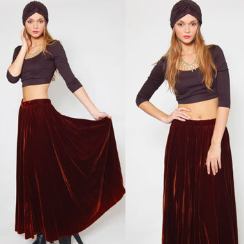 Best Velvet Maxi Skirt Products on Wanelo