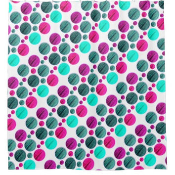 Dot Abstract Shower Curtain