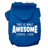 This is What Awesome Looks Like Dog Pet Hoodies Blue Size XS (8)