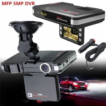 New MFP 5MP Car DVR Camera Recorder+Radar Laser speed Detector Trafic Alert English&Russian