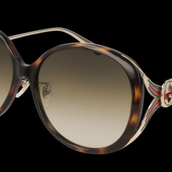 Gucci - GG0226SK Gold Sunglasses / Brown Gradient Lenses
