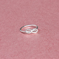 Knot Infinity Silver Ring -  Promise Ring - Custom Ring - Gift