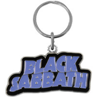 Black Sabbath Logo Metal Key Chain Silver