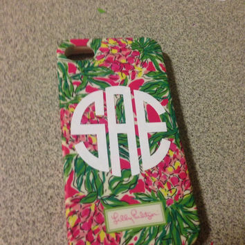 Monogrammed Phone Decal, 2 inch Monogram