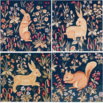 Medieval Rabbit Tapestry Cushion Covers