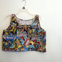 marvel superhero crop top shirt
