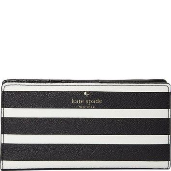 ONETOW Kate Spade New York Women's Hyde Lane Stripe Stacy Wallet
