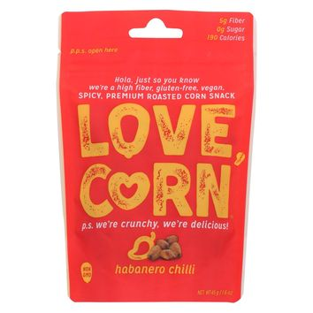 Love Corn - Roasted Corn Habanero - Case Of 10 - 1.6 Oz