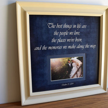 Wedding Frame Gift, Wedding Gift Personalized, Parents Wedding Gift Grandparents In-Laws Sister Bridesmaid Thank You Best Friends, 15x15