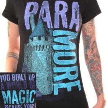 ROCKWORLDEAST - Paramore, Girls T-Shirt, Castle