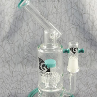 The Professional Sidecar Oil Rig in Teal by Diamond Glassworks