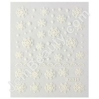 Jem Beauty Supply: Misc 13310 Nail Sticker Snowflakes White, Nail Art Stickers