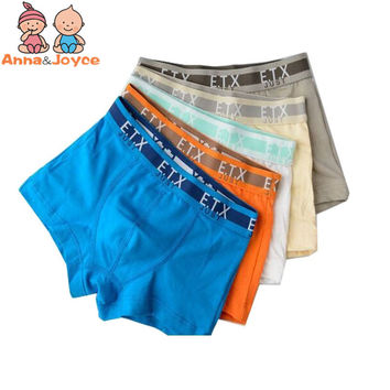 5Pcs/Lot 2-14Y Boys Boxer  Underwears Panties Brand Quality Cotton Kids Boxers Shorts FreeShipping