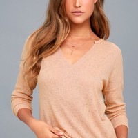 Anouk Beige Long Sleeve Top