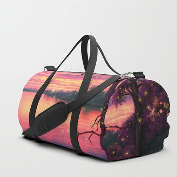Fireflies Duffle Bag by exobiology
