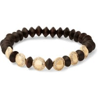 Luis Morais - Gold, Diamond and Ebony Bead Bracelet | MR PORTER